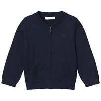 Burberry Check Detail Cotton Cardigan Navy Navy
