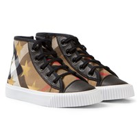 Burberry House Check and Star Print High-Top Trainers HC/BLACK