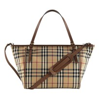 Burberry Horseferry Check Baby Changing Tote Bag Tan