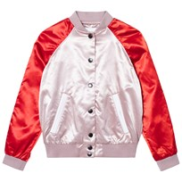 Burberry Pink Satin Bomber with Applique Ash Rose