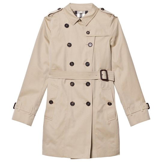 Burberry Wiltshire Mini Cotton Trench Coat Honey Honey