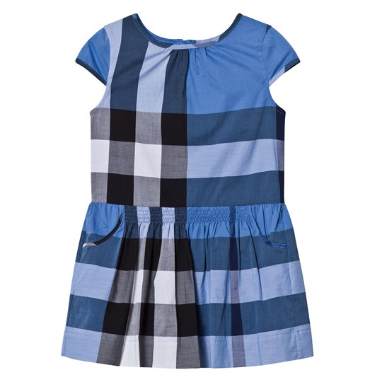 Burberry Blue Classic Check Dress HYDRANGEA BLUE