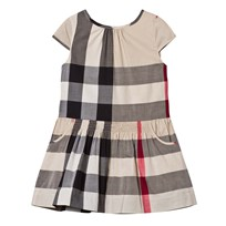 Burberry Beige Classic Check Dress New Classic Check