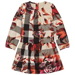 Burberry Pink Floral Classic Check Print Dress