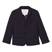 Burberry Navy Cool Wool Suit Jacket Marinblå