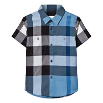 Burberry Pale Blue Two Pocket Classic Check Shirt Pale Blue