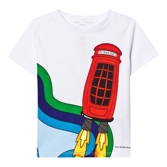 Burberry White Rocket Phone Print Tee White