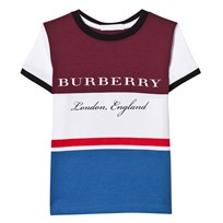 Burberry Burgundy Blue Branded Tee CLARET
