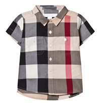 Burberry Beige New Classic Check Short Sleeve Shirt New Classic Check