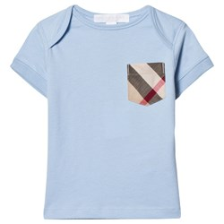 Burberry Pale Blue Classic Check Pocket Tee