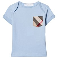 Burberry Pale Blue Classic Check Pocket Tee Light Blue