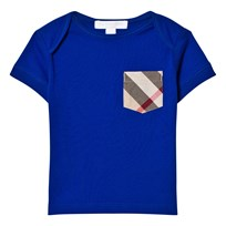 Burberry Bright Blue Classic Check Pocket Tee Brilliant Blue