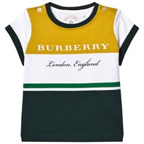 Burberry Yellow and Green Branded Tee LARCH YELLOW