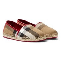 Burberry House Check Cotton Canvas Espadrilles Berry Pink Berry Pink