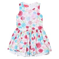 Lelli Kelly White and Multi Rose and Sequin Heart Dress Multi