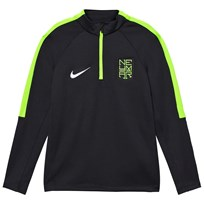 NIKE Green Neymar Squad Tee BLACK/ELECTRIC GREEN/METALLIC SILVER