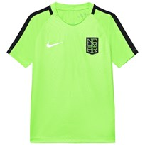 NIKE Green Neymar Dry Squad Tee ELECTRIC GREEN/BLACK/METALLIC SILVER