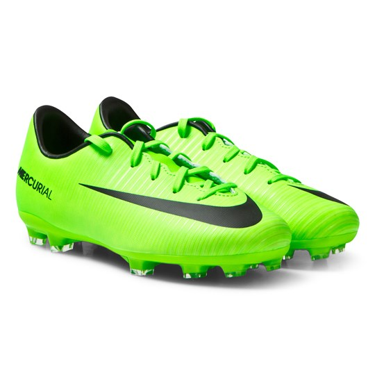 NIKE Green Mercurial Vapour XI Firm-Ground Football Boots ELECTRIC GREEN/BLACK-FLASH LIME-WHITE