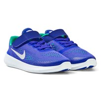 NIKE Blue and Platinum Free Run Kids Trainers PARAMOUNT BLUE/PURE PLATINUM