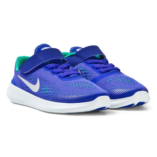 NIKE Free Run Kids Trainers Blå/Platina PARAMOUNT BLUE/PURE PLATINUM