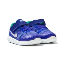 NIKE Blue and Platinum Free Run Infants Trainers PARAMOUNT BLUE/PURE PLATINUM
