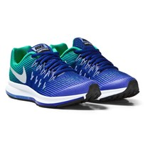 NIKE Blue and Silver Zoom Pegasus 33 Junior Trainers PARAMOUNT BLUE/METALLIC SILVER