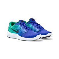NIKE Blue and Green Lunarstelos Junior Trainers PARAMOUNT BLUE/BLACK-STADIUM GREEN-WHITE