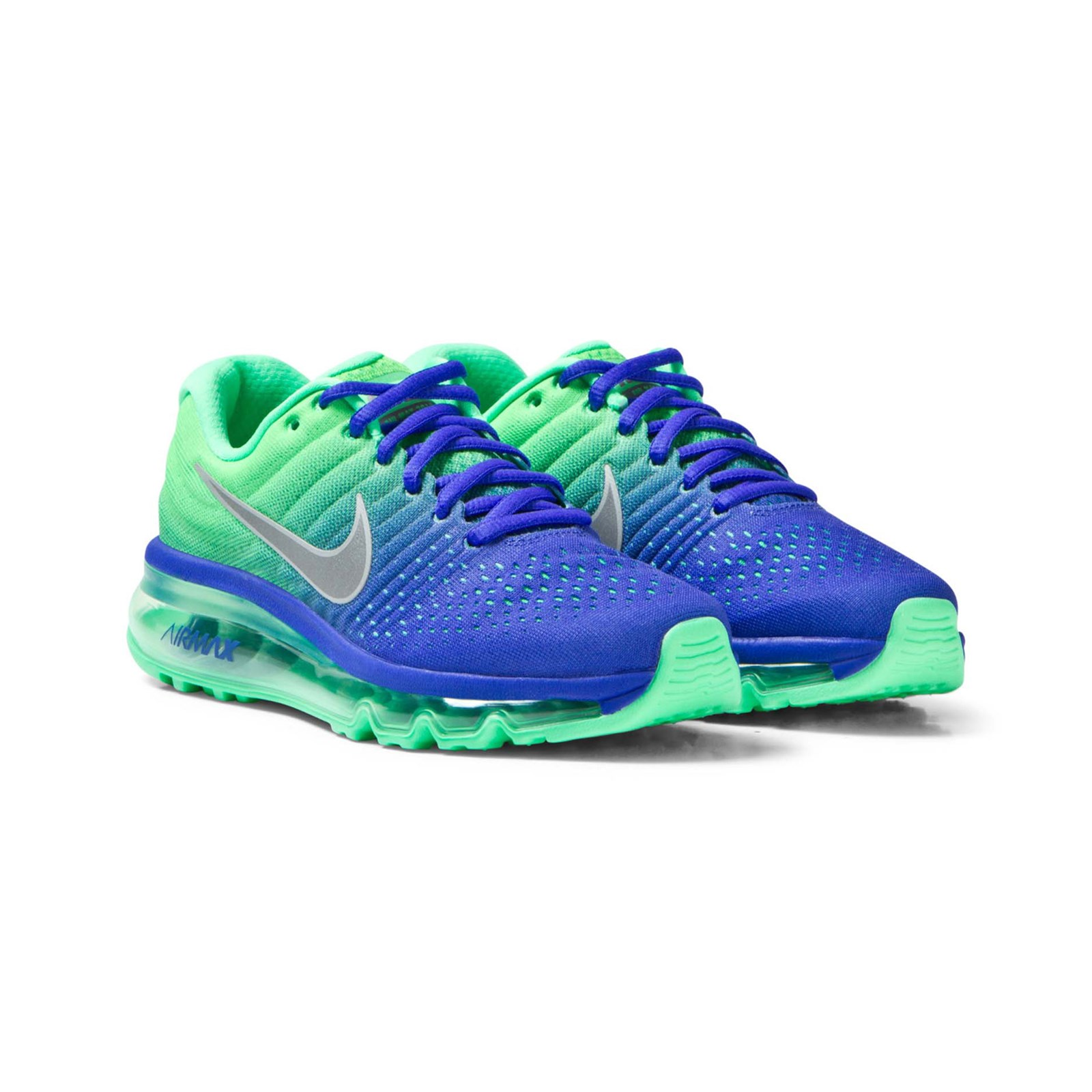 NIKE - Blue and Green Air Max 2017 Junior Trainers - Babyshop.com