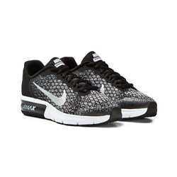 NIKE Air Max Sequent 2 Junior Trainers Svart/Silver
