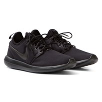 NIKE Black Roshe Two Junior Trainers Black/Black