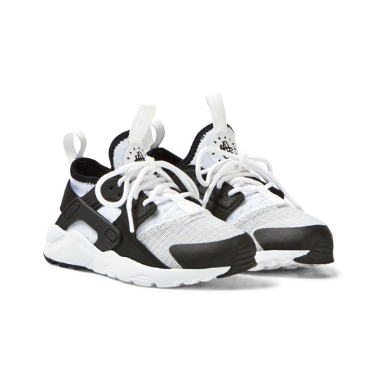 NIKE Huarache Run Ultra Kids Trainers Vit/Svart White/Black