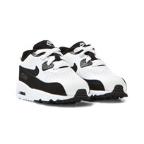 NIKE White and Black Air Max 90 Ultra 2.0 Infants Trainers WHITE/BLACK-WHITE