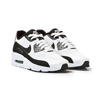 NIKE White and Black Air Max 90 Ultra 2.0 Junior Trainers WHITE/BLACK-WHITE