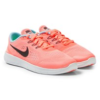 NIKE Pink Free Run Junior Trainers LAVA GLOW/METALLIC SILVER-BLACK