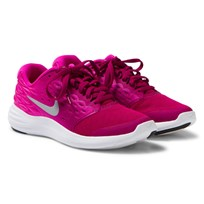 NIKE Pink Lunarstelos Junior Trainers DYNAMIC BERRY/METALLIC SILVER-FIRE PINK
