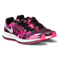 NIKE Pink Printed Zoom Pegasus 33 Junior Trainers BLACK/METALLIC SILVER-WHITE-HYPER PINK