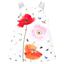 Anne Kurris White Poppy and Bird Print Dress White