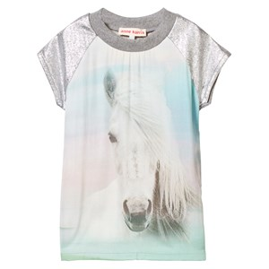 Image of Anne Kurris Horse Print Sweat Dress with Lurex Sleeves 2 years (2743746609)