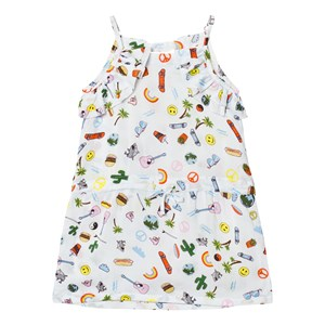 Image of Anne Kurris Blue All Over Emoji Print Voile Dress 10 years (2743710725)