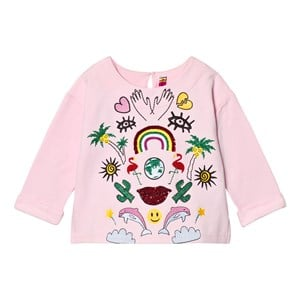 Image of Anne Kurris Pink Sequin Jungle and Embroidereed Sweatshirt 12 years (2743805579)