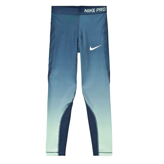 NIKE Blue Hypercool Fade Leggings SQUADRON BLUE/WHITE