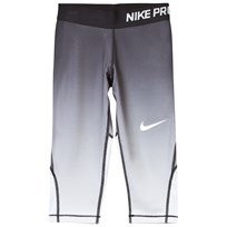 NIKE Nike Pro Black Fade Capri Leggings BLACK/PURE PLATINUM/WHITE