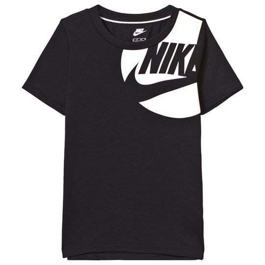 NIKE Black and White Branded Tee Musta