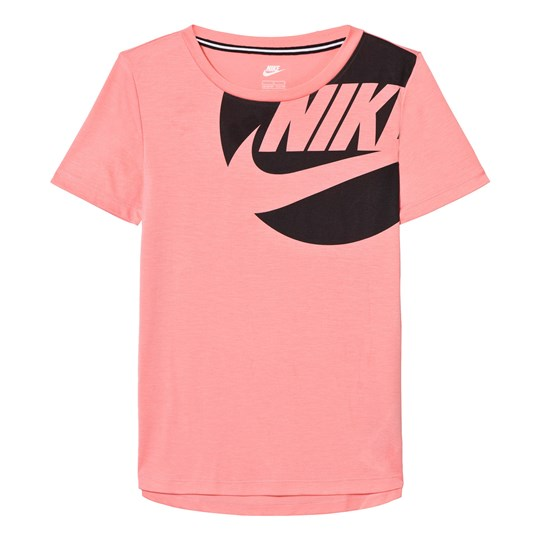 NIKE Pink and Black Branded Tee BRIGHT MELON/BLACK