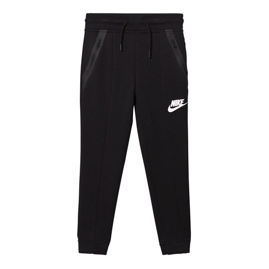NIKE Black Tech Fleece Jogging Bottoms BLACK/BLACK/BLACK/WHITE