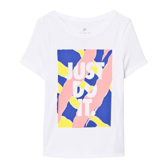 NIKE White Just Do It Graphic Tee WHITE/BRIGHT MELON