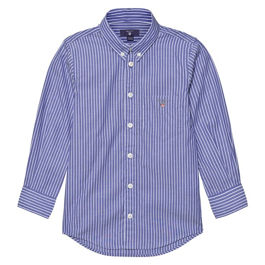 GANT Blue and White Pinstripe Shirt 422