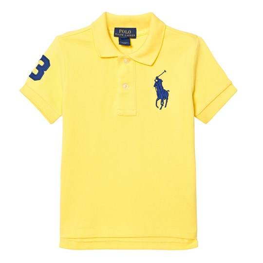 Ralph Lauren Cotton Mesh Polo Shirt Tournament Yellow 014
