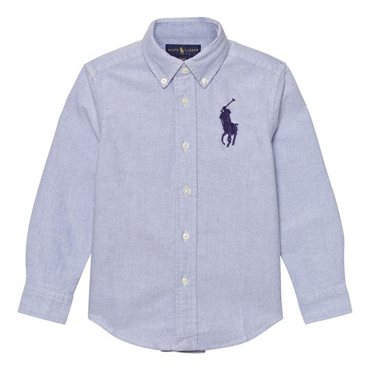 Ralph Lauren Blue Big Pony Shirt 001