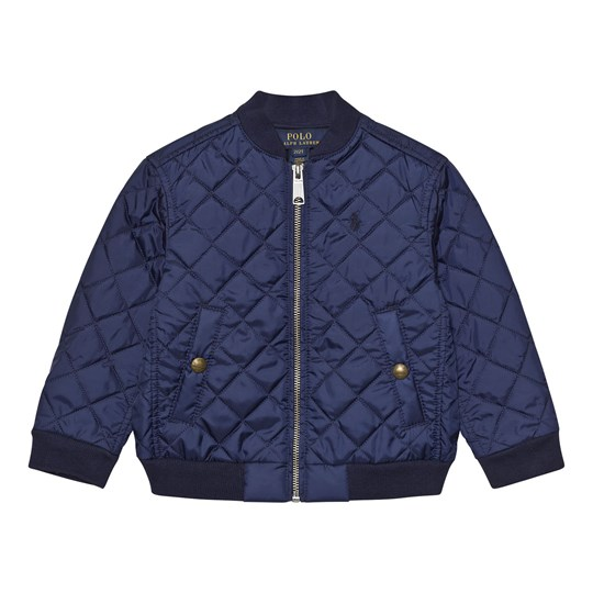 Ralph Lauren Quilted Baseball Jacket Spring Navy 002